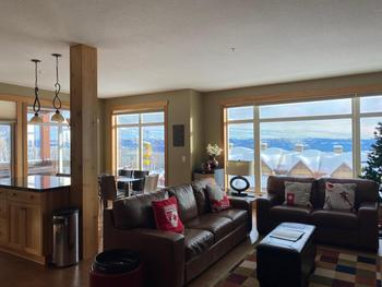 Living room with views over the Monashee mountains