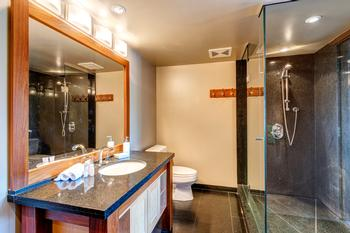 Master ensuite bathroom with large walk-in shower