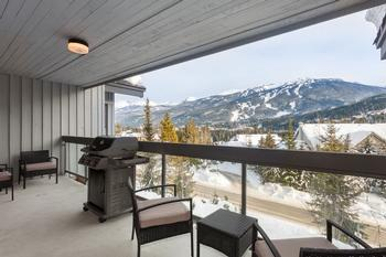 Private balcony with mountain views