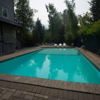 Pool open in summer months.