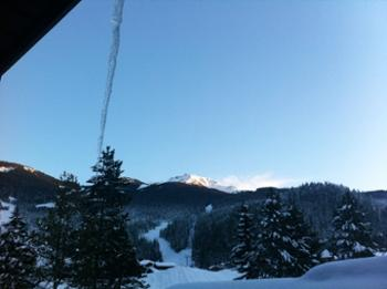 The view of Whistler Mountain from your private deck. Creekside gondola moments away.