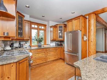 Gourmet kitchen with professional series appliances.