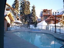 Heated year round pool, with pool side hot tub