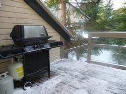 Vermont Castings BBQ on 10 x 15 ft deck