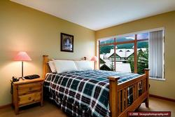 Wake up to a view of Whistler mountain from the master bedroom