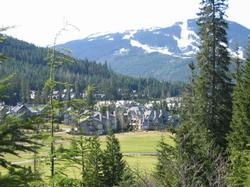 Golf course in Whistler with mountain views