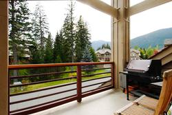 Stunning 180° south facing views facing Whistler Blackcomb from the second deck. Complete with party sized Weber BBQ.