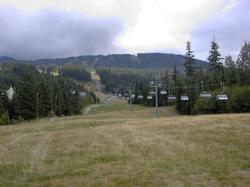 This is a summer view of Wizard Chair, on Blackcomb, a few short steps from our condo.