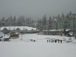 The Upper Village and Blackcomb Mountain's ticket office just a few short steps from our condo.