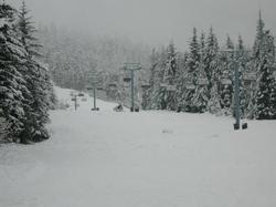 Wizard run on Blackcomb, steps away from our condo.