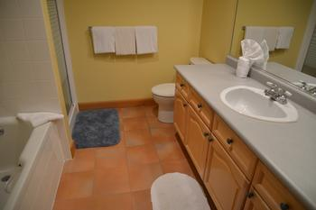 2nd floor bathroom. Separate shower stall and tub. Spacious vanity counter.
