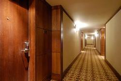 Glacier Lodge is newly renovated - hallways at the Glacier lodge