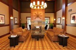 The new stylishly renovated Glacier Lodge Lobby, warm and inviting lobby arrivals area