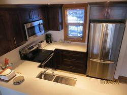At the top of the stairs of the 2nd floor is the fully equipped kitchen.