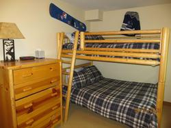 Double double bunk room on the 1st floor can sleep 4 people comfortably.