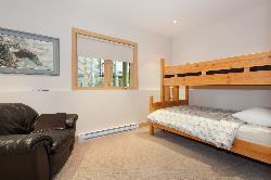 Bedroom #3 with double bed on bottom and single on top