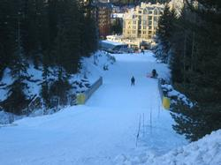 The ski run access to both Whistler and Blackcomb Mountains as well as Whistler Village
