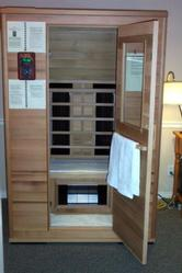 Private Solarus sauna to sooth sore muscles, increase circulation, and detox.