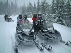 A great family outing on the snowmobiles