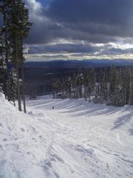Ski out directly on to Perfection Run and down to the Ridge Rocket Express Chair Lift or Plaza Chair