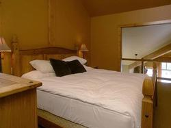 The loft bedroom has king size bed, it own ensuite bathroom with california shower a view from above