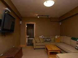 the Media room has 50inch HDTV and is wired for surround sound DVD playback and is connected to Satellite reception