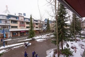 Right on the Whistler Stroll! Unbeatable location.