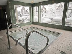 Indoor hot tub.