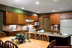 The Kitchen has lots of counter space to prepare your meals.