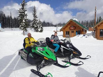 We love the skiing at Big White, but we also enjoy many of the other activities on offer such as the snow-mobiling.