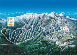 Trail Map: Beginners can ski the whole mountain because there is a green run off of every lift, even at the peak. Experts have challenging terrain, bowls, and glades. Telus terrain park for practicing those fancy ski & snowboard jumps.