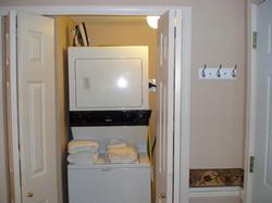 Washer and dryer and even laundry soap and dryer sheets for your use.