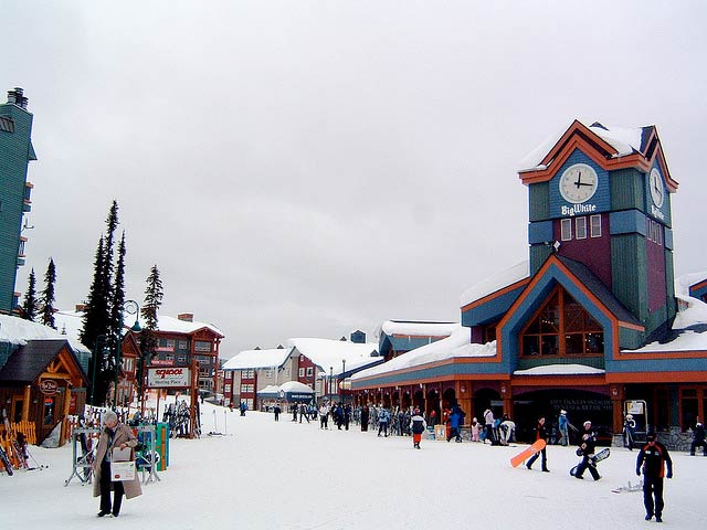 Big White Village in Winter